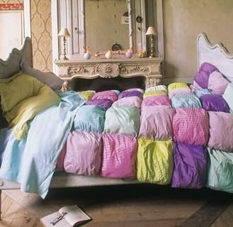 Dessus de lit multicolore