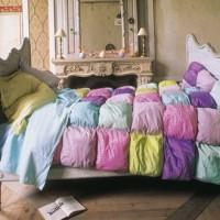 dessus de lit multicolore pop couture. Black Bedroom Furniture Sets. Home Design Ideas