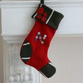 Chaussette de Noël avec talon