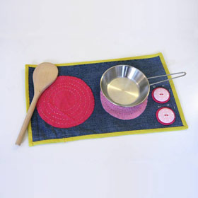 Cuisinière en tissu