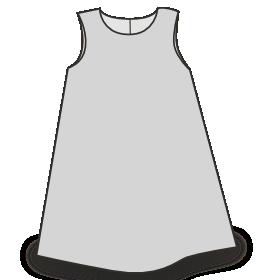 Patron gratuit robe chasuble petite fille