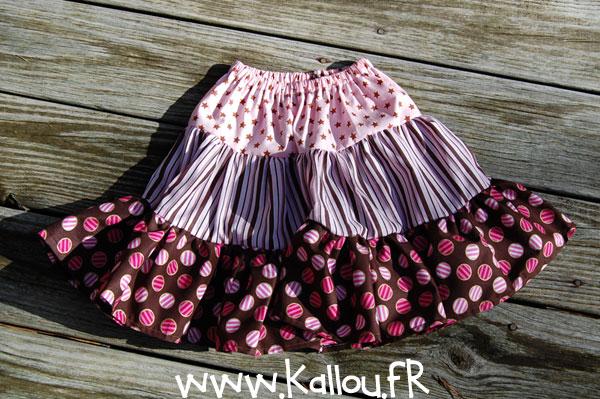 La petite jupe qui tourne pop couture - Patron jupe elastique fille ...