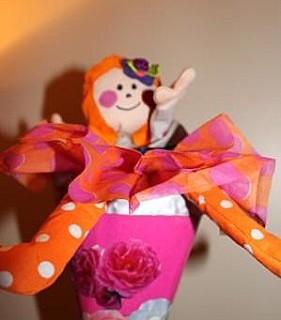 Marionette Princesse dans un cône