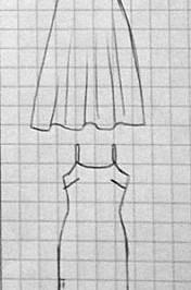 Robe à bretelles doubles