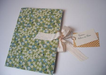 Protège cahier en tissu