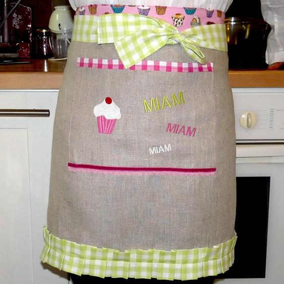 Tablier cupcake pop couture - Tuto tablier de cuisine ...