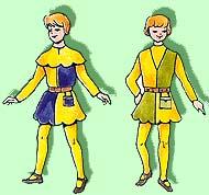 Costume de page Moyen-Age