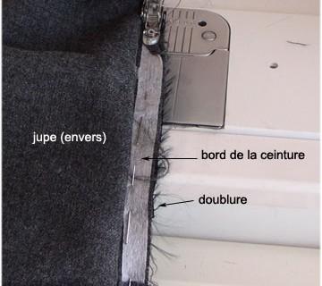 Changer la doublure d'une jupe