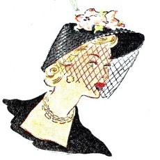 Patrons gratuits chapeaux années 50