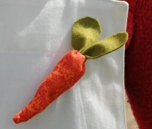 Broche carotte