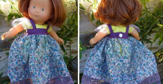 Robe de princesse pour poupée