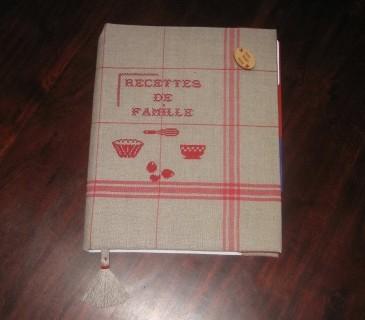 Protège-cahier en tissu