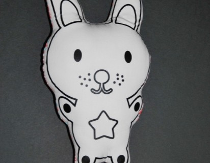 Doudou lapin à peindre