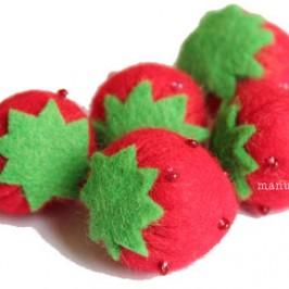 La fraise en feutrine