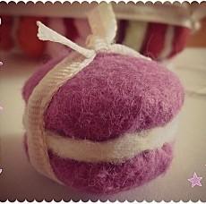 Macaron en feutrine