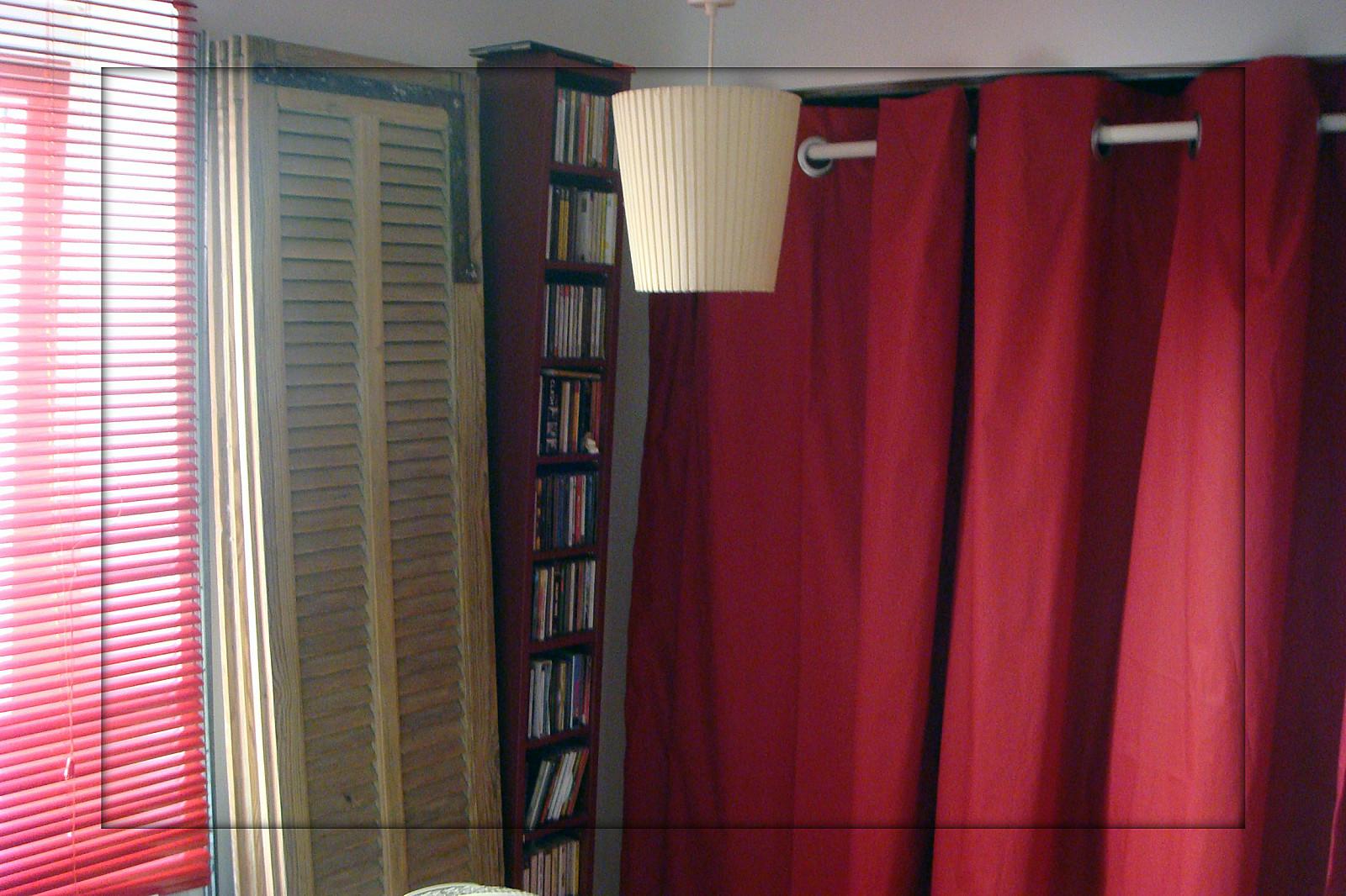 pose d 39 oeillets clips sur un rideau pop couture. Black Bedroom Furniture Sets. Home Design Ideas