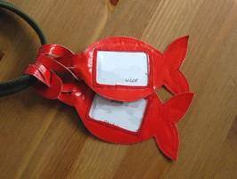 Etiquette de bagage poisson