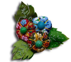 Pique-aiguilles fleurs