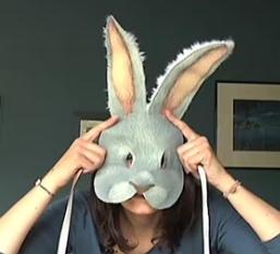 Masque de lapin textile