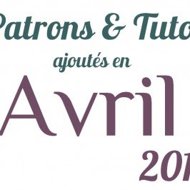 Tutos couture d'Avril 2013