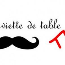 Serviette de table élastiquée
