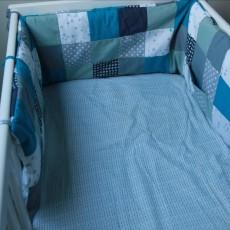 tour de lit b b patchwork pop couture. Black Bedroom Furniture Sets. Home Design Ideas