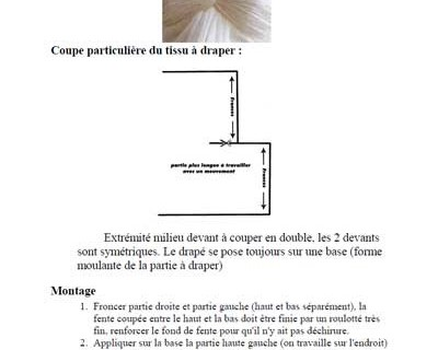 Document : effet de noeud avec drapé
