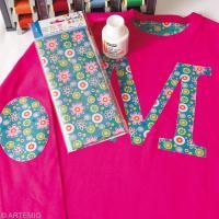 Customiser un T-shirt avec du tissu