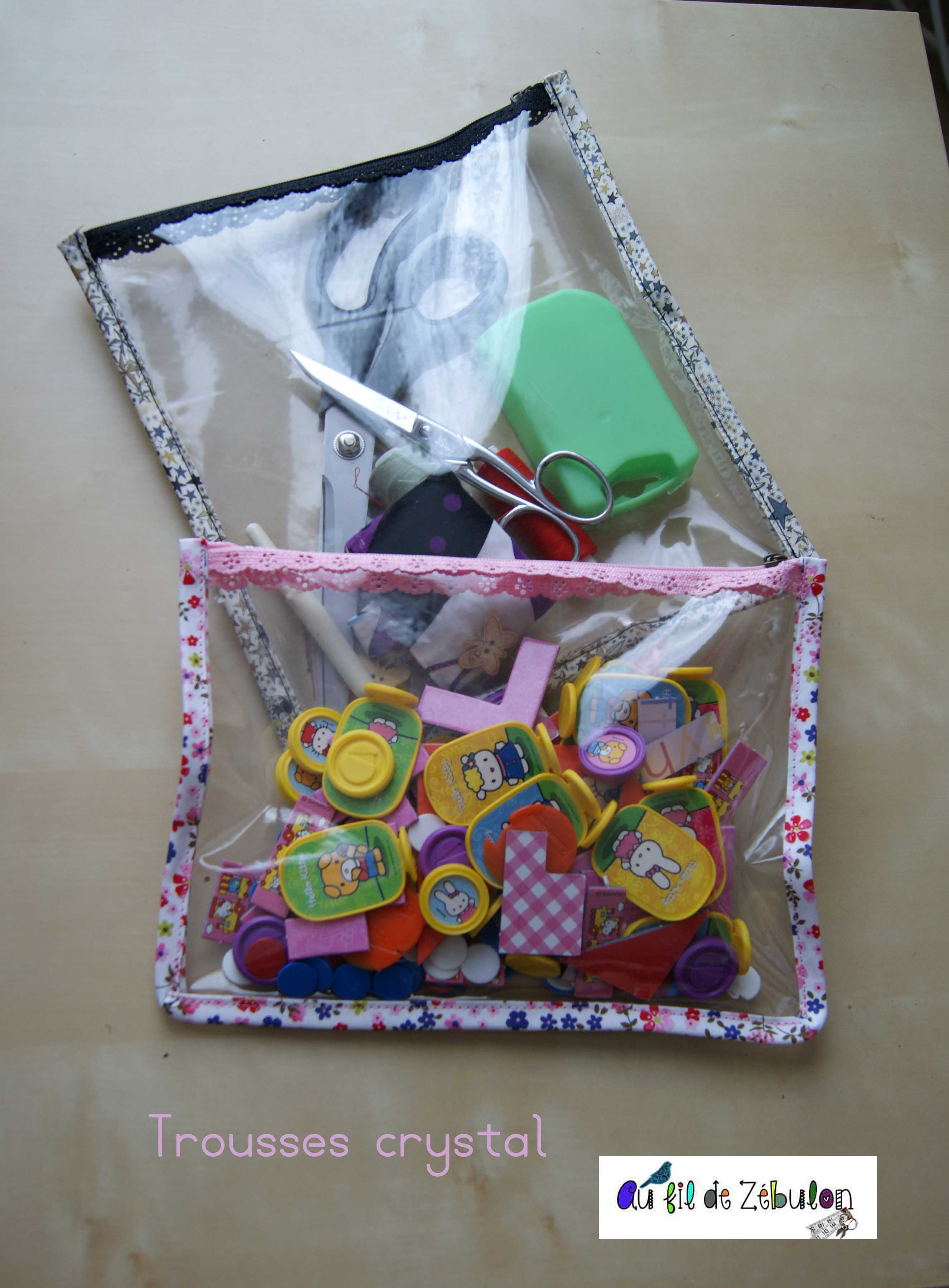 Trousse crystal pop couture for Boite a couture remplie