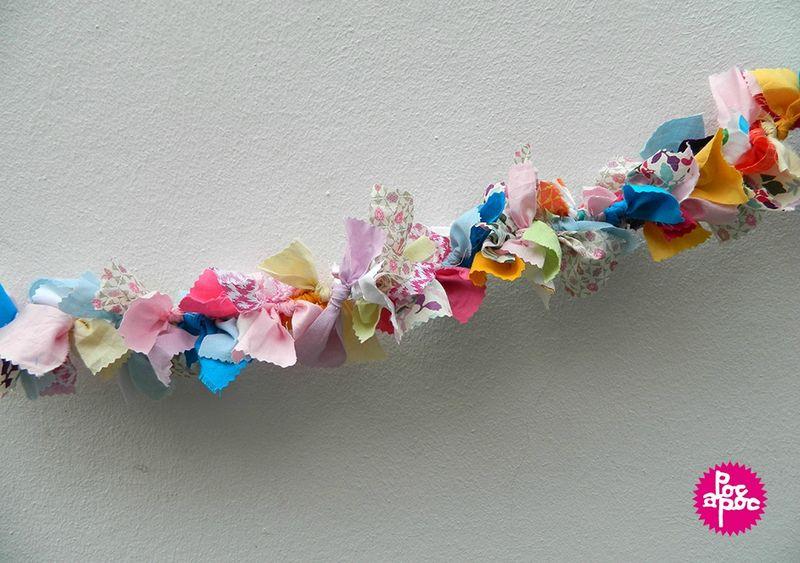 Guirlande en tissu pop couture for Guirlande fanion exterieur