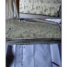Couper la doublure d'une robe sans manche
