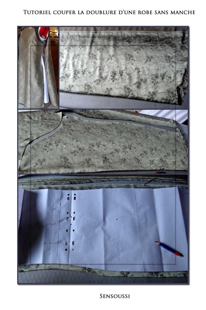 couper la doublure d 39 une robe sans manche pop couture. Black Bedroom Furniture Sets. Home Design Ideas