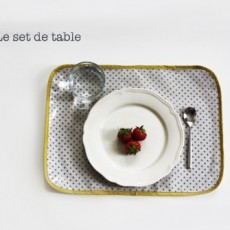 Set de table enduit