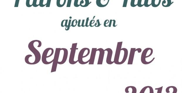 Tutoriels couture Septembre 2013
