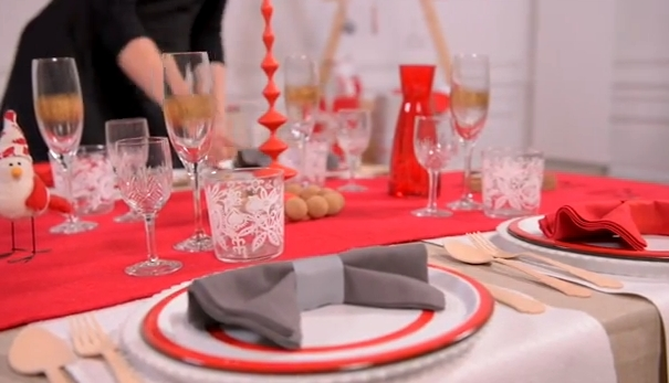 Chambre Deco Femme : Déco table de noël pop couture