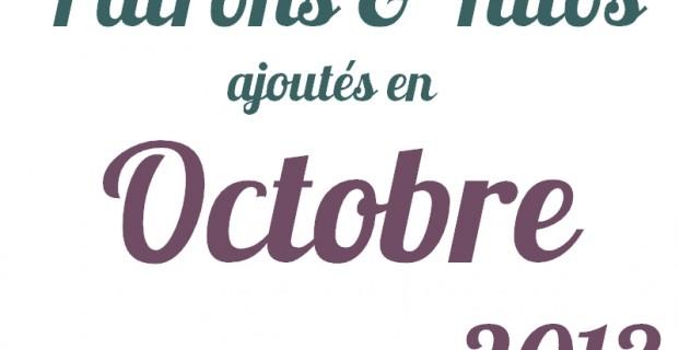 Patrons gratuits octobre 2013