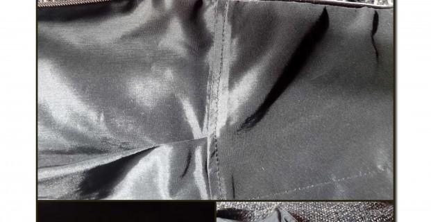 Coudre doublure au ruban de fermeture à glissière