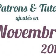 Tutos couture novembre 2013
