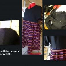 Faction robe revers