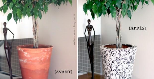 cache pot en tissu pop couture. Black Bedroom Furniture Sets. Home Design Ideas