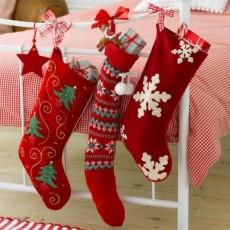 3 chausettes de Noël