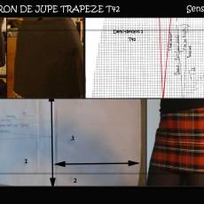 Jupe trapèze T.42