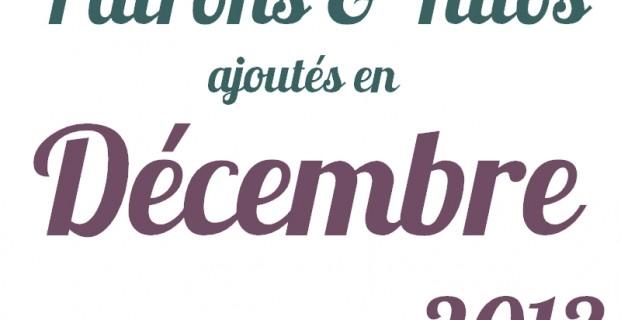Patrons gratuits décembre 2013