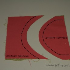 Coudre courbes convexes ou concaves