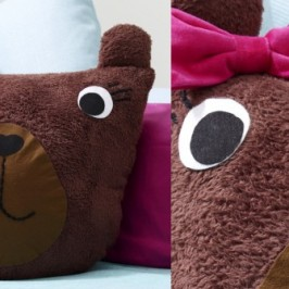 Doudou coussin ours