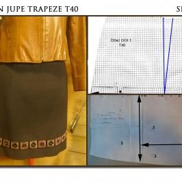 Jupe trapèze T40