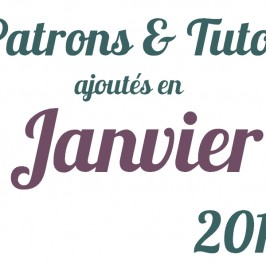 Tutos couture Janvier 2014