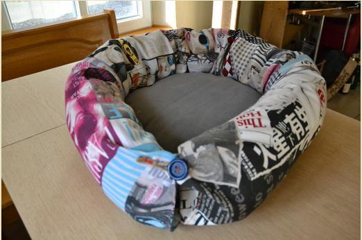 coussin moelleux pour chat pop couture. Black Bedroom Furniture Sets. Home Design Ideas