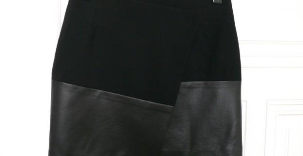 Jupe portefeuille asymétrique