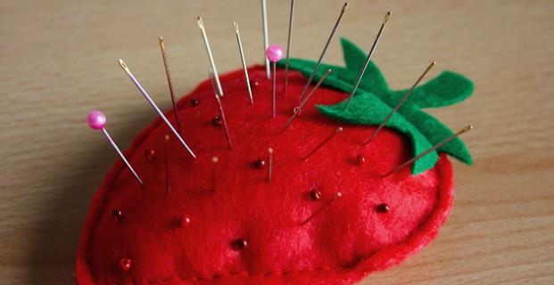 Pique-aiguilles fraise